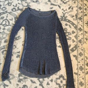 Grayish blue Lululemon sweater